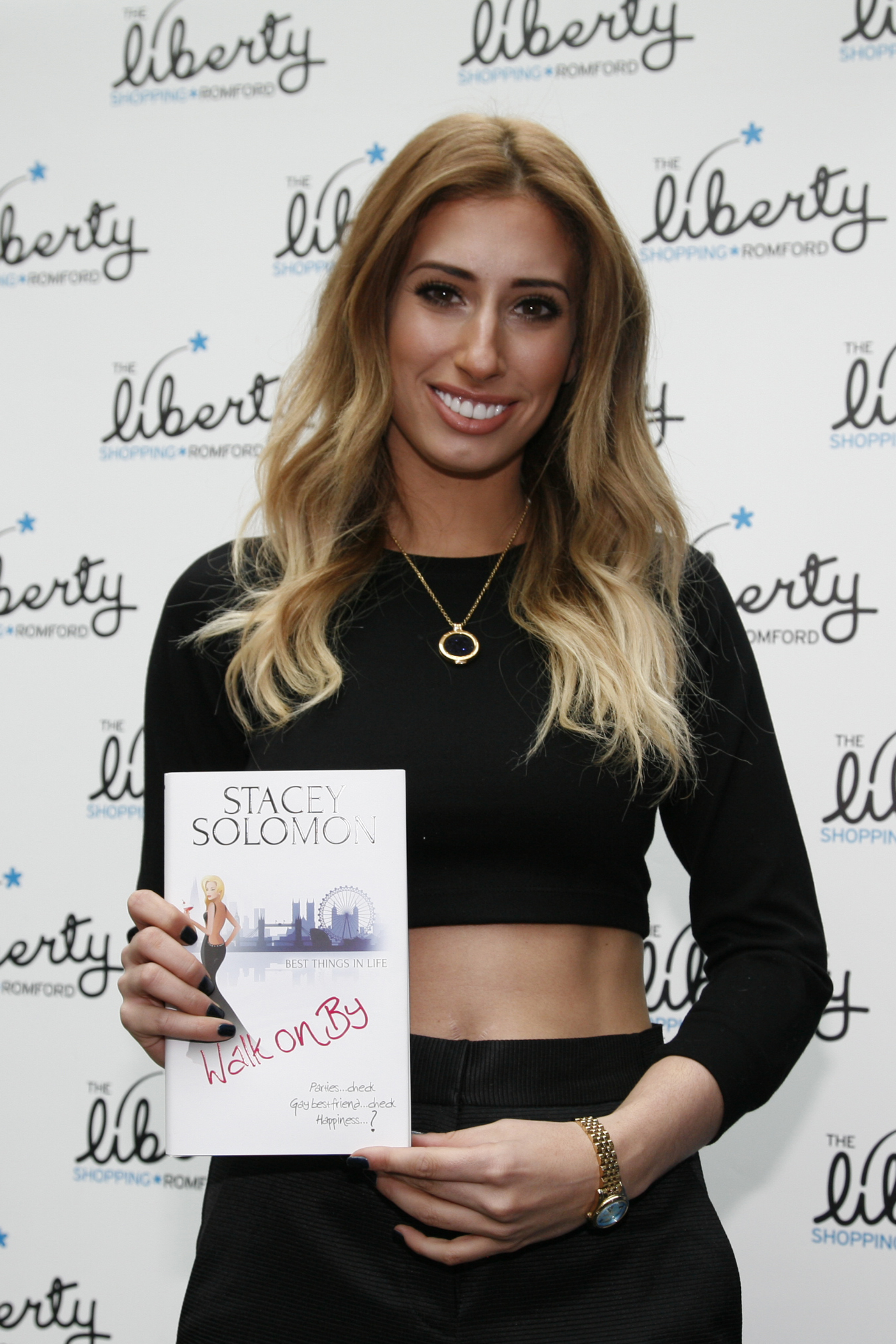 Stacey Solomon with her book, Walk on By (Copyright S Rowse)